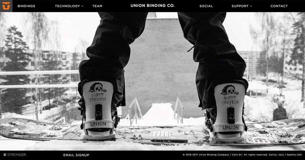 Union Bindings nettisaitti uusittu