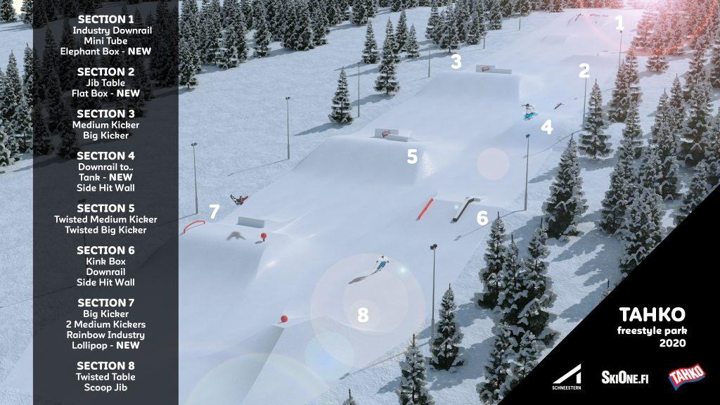 Schneestern & SkiOne.fi yhteistyö laajenee - Tahkon Länsirinteiden parkit uudistetaan tälle kaudelle
